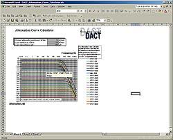 Программа расчета аттенюаторов Attenuation Curve Calculator